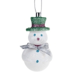 022-19592-PG £4.5 Snowman Hanging Decoration With Pale Green Hat - 1...  Click to view