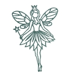 022-19606-GR £1 Pastel Green Glitter Finish Fairy Hanging Decorati...  Click to view