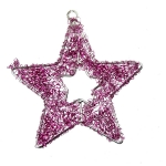 022-20269-PK £1.5 Fuchsia Pink Star Hanger - 9cm...  Click to view