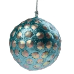 022-20434 £3.75 Pale Turquoise & Silver Disc Ball - 80mm...  Click to view