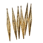 Gold Flecked Glass Icicles - 6 x 14cm