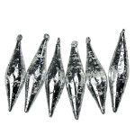 022-21491-SL-7 £5.5 Silver Flecked Glass Icicles - 6 x 7cm...  Click to view