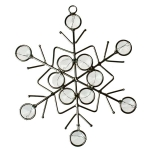 022-21730 £4 Silver & Gemstone Snowflake Decoration - 13cm...  Click to view
