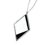 022-21733 £5 Silver Diamond Mirror Decoration - 12cm...  Click to view