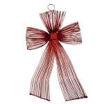 022-21801-RD £6 Red Glitter Loop Bow Decoration - 20cm...  Click to view