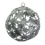022-21815-SL £6 Silver Die Cut Bethlehem Star Decoration - 100mm...  Click to view