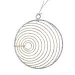 022-21979-SG-CR £2.5 Silver & Champagne Gold Circular Glittered Wire De...  Click to view