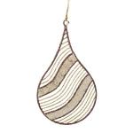 022-21994-GB-TD £2.6 Gold & Brown Capiz Shell Teardrop Hanging Decorati...  Click to view