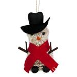 022-22954-SN £10 Gisela Graham Bristle Snowman - 11cm...  Click to view