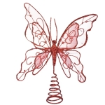 024-13329-RD £5 Gilt Wired Red Tree Top Butterfly - 22cm...  Click to view