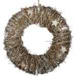030-16465 £30 Frosted Brown Wreath with Star Detailing...  Click to view