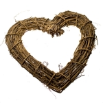 031-11232 £8 Gisela Graham Natural Twig Heart Wreath - 30cm Dia...  Click to view