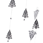 031-14135-TR £4 Silver Tree Shape Mirror Garland - 1.8m...  Click to view