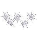 031-16369-SL £10 Silver Glitter Snowstar Hanging Garland - 1m...  Click to view