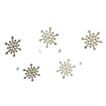 031-16398-GD £5 Gold Snowstar And Crystal Garland - 80cm...  Click to view