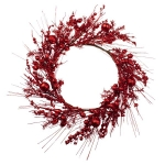 031-21464-RD-WRE £25 Red Festive Wreath With Fruits Decoration - 45cm...  Click to view