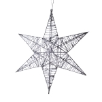 032-10320-SL25 £8 3D Hanging Silver 25cm Star Decoration...  Click to view