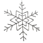 45.5cm X 3.8cm White Traditional Design Snowflake Decoration