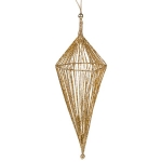 032-17889-GD-67 £11.75 Gold Diamond Shaped Hanging Decoration - 25cm x 67...  Click to view