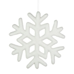 032-21746-23 £7.6 White Glitter Snowflake Hanging Decoration - 23cm...  Click to view