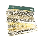 034-08138-GD £9 Decorative Gold Lace Foil Table Runner - 28.5cm x ...  Click to view
