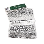 034-08138-SL £9 Decorative Pearl Silver Lace Foil Table Runner - 2...  Click to view
