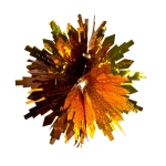 034-08634-CCG-12 £2.25 Coffee/Copper Laser/Gold Diamond Cut Ball - 30cm (...  Click to view