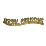 Gold Glitter Merry Christmas Ornament - 40cm
