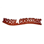 Red Glitter Merry Christmas Ornament - 40cm