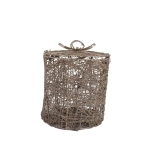 035-17543-SR-CG £5 Champagne Gold Glittered Rattan & Metal Gift Box -...  Click to view