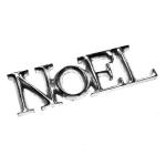 036-12850-SN £10 Posh Graffiti Silver Noel Word Decoration - 5cm...  Click to view