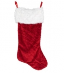 CTUK Red Hairy Stocking - 30 Inches (80cm)