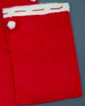 051-06105 £10.75 Red Sack With Fur Trim - 90cm x 60cm...  Click to view