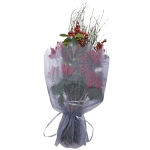 062-13362-GY £0.75 Voile Bouquet Wrap With Ribbon Tie - Grey...  Click to view