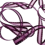 063-20819 £10.5 Bordeaux Red Stitched Border Ribbon - 15mm X 20m...  Click to view