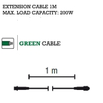 MK System 80 1m Green QUICK FIX Low Voltage Indoor And Outdoor Extension Cable