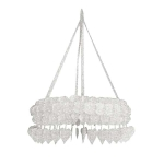 201-06602-WH £10.5 White Paper Heart Chandelier - 75cm...  Click to view
