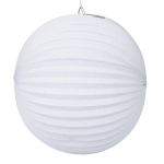 201-14276-WH £7 White Flame Resistant Round Paper Lantern - 31cm...  Click to view