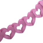 201-15133-PK £6 Pink Paper Heart Garland - 3m...  Click to view