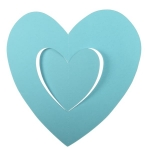 201-15140-AB £2.5 Turquoise Hanging Paper Heart Decoration - 30cm...  Click to view