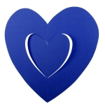 201-15140-BL £2.5 Blue Hanging Paper Heart Decoration - 30cm...  Click to view