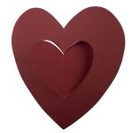 201-15140-DR £2.5 Bordeaux Hanging Paper Heart Decoration - 30cm...  Click to view