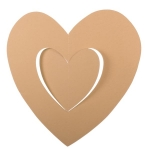 201-15140-IV £2.5 Ivory Hanging Paper Heart Decoration - 30cm...  Click to view