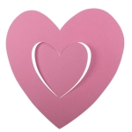 201-15140-PK £2.5 Pink Hanging Paper Heart Decoration - 30cm...  Click to view