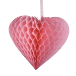 201-15154-40 £10 Pink Paper Heart Hanging Decoration - 40cm x 44cm...  Click to view