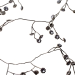 202-10242 £8.5 Silver Metal Garland With Flower Detail - 106cm...  Click to view