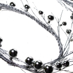 202-10466-GD £15 Silver Bauble Garland - 200cm...  Click to view