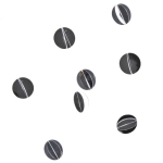 202-15714-SL-CR £4 3D Silver Circle Acrylic Garland...  Click to view