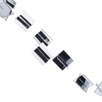 202-15714-SL-SQ £4 3D Silver Square Acrylic Garland...  Click to view