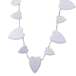 202-16014 £10 Gisela Graham White Wooden Heart Garland - 1.5m...  Click to view
